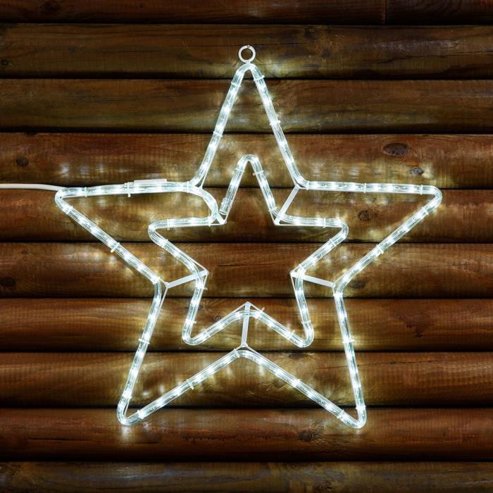 Stella Luminosa Di Natale.Stella Di Natale Luminosa Doppia 108 Led