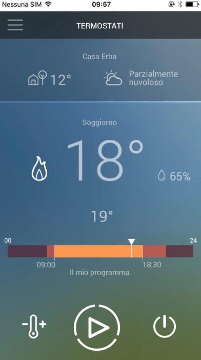 Termostato ambiente wifi touchscreen - Smarther