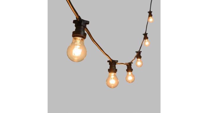 Plafoniera Da Esterno Novalux : Catena luminosa da esterno lampade