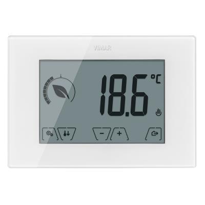 Termostato ambiente elettronico da parete a batteria for Termostato touchscreen gsm vimar 02906